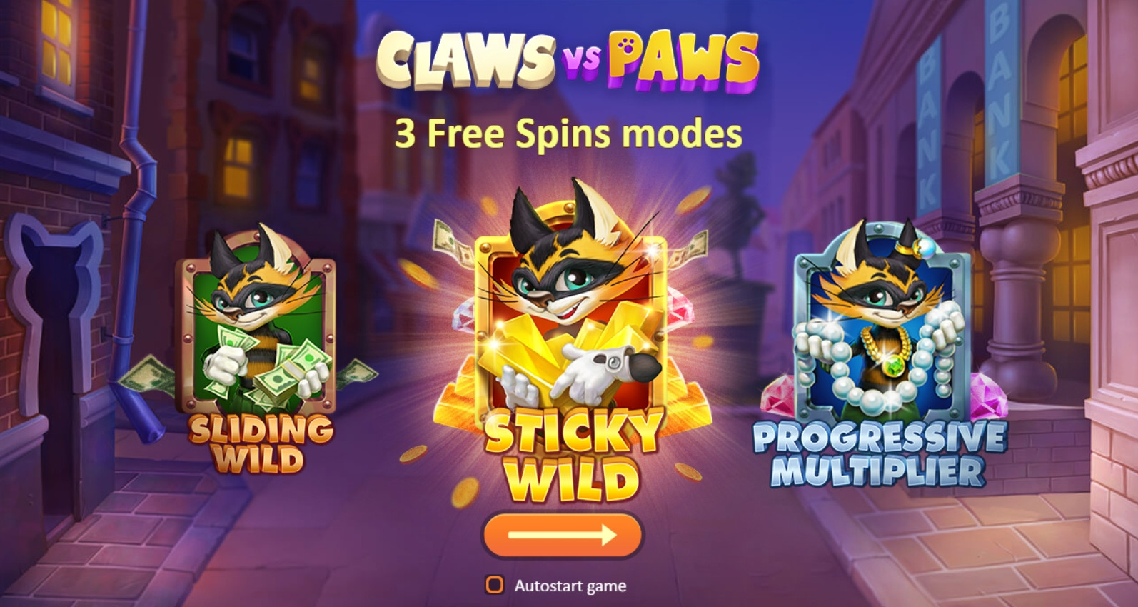 Claws vs Paws video slot